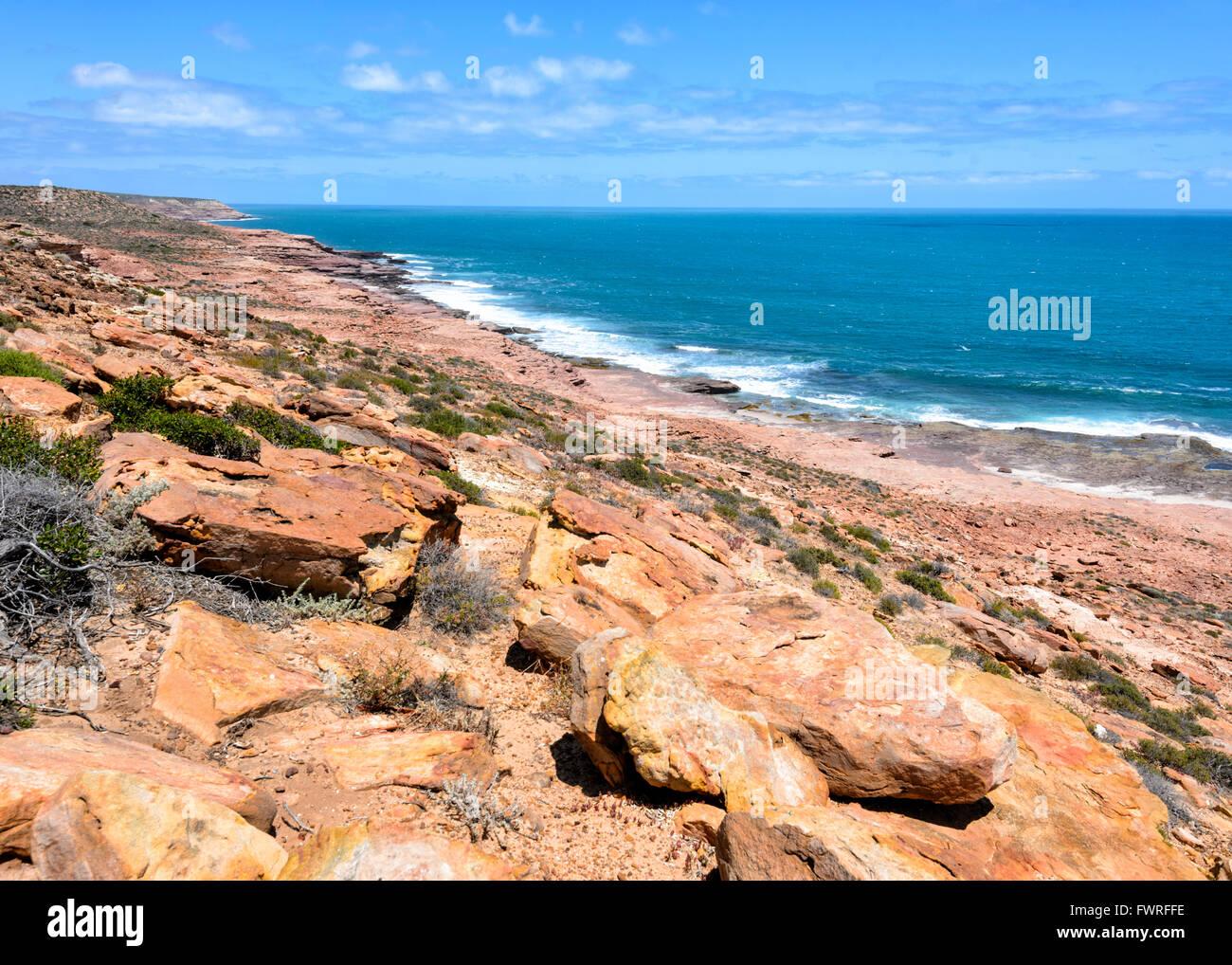Küste, Kalbarri National Park, Western Australia, Australien Stockbild