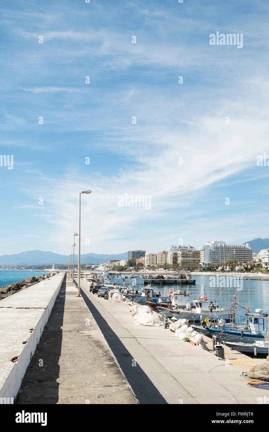 marbella aus dem fischereihafen malaga spanien
