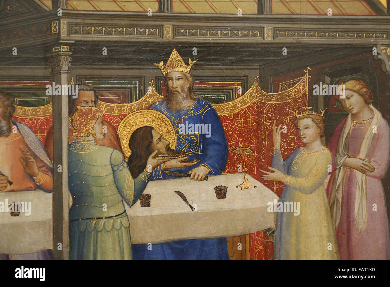 Lorenzo Monaco (1370-1425). Italienischer Maler der späten Gotik und Frührenaissance Alter. Herods fest, Stockbild
