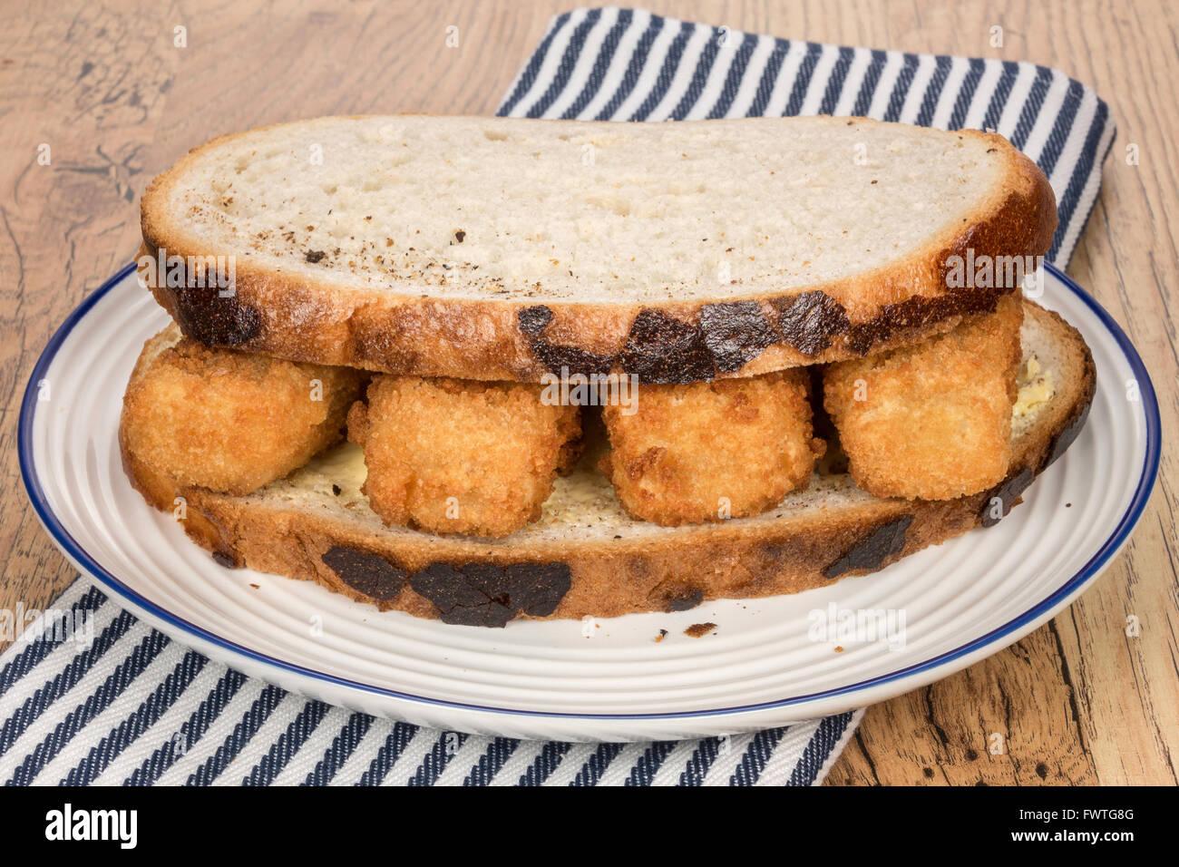 Fisch-Finger sandwich Stockbild