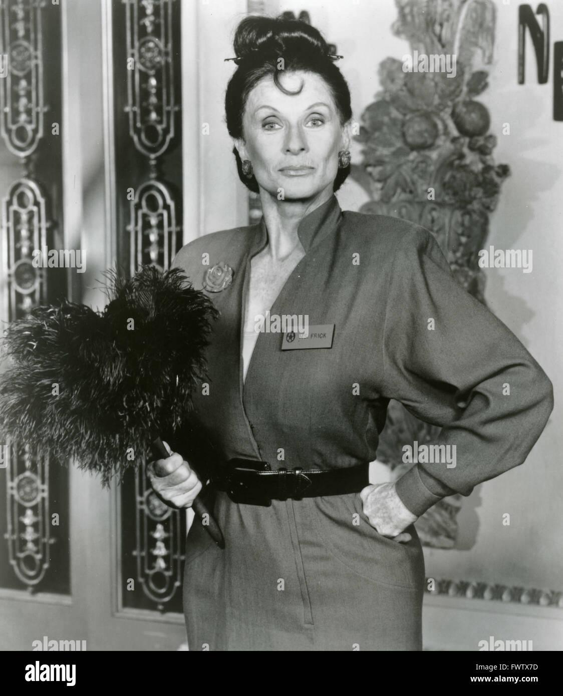 Cloris Leachman als Frau Frick in den Nutt House, USA 1989 Stockbild