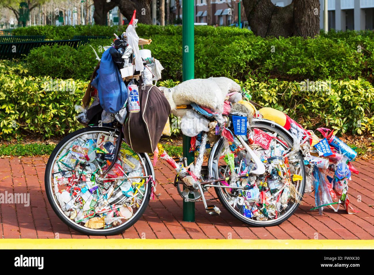 Altes Fahrrad Dekoriert Mit Mull Feier Osceola Bezirk Florida
