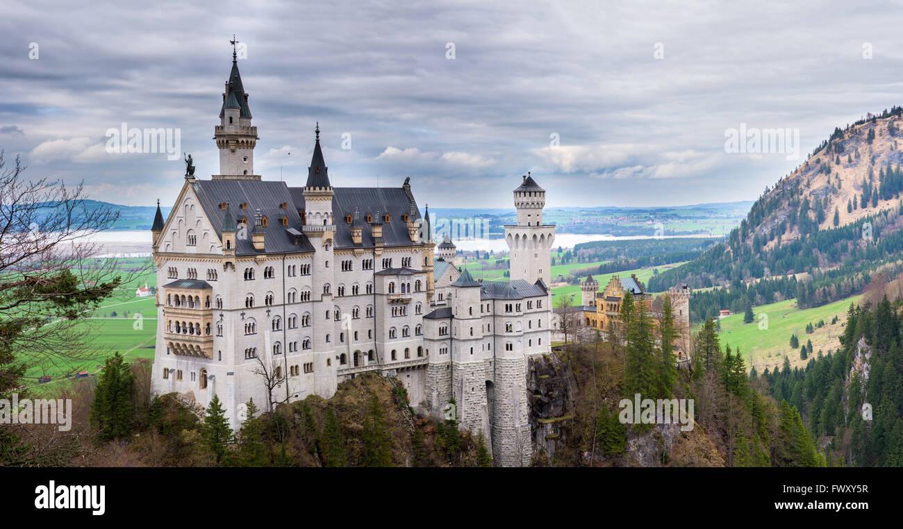 Schloss Neuschwanstein in Bayern Stockbild