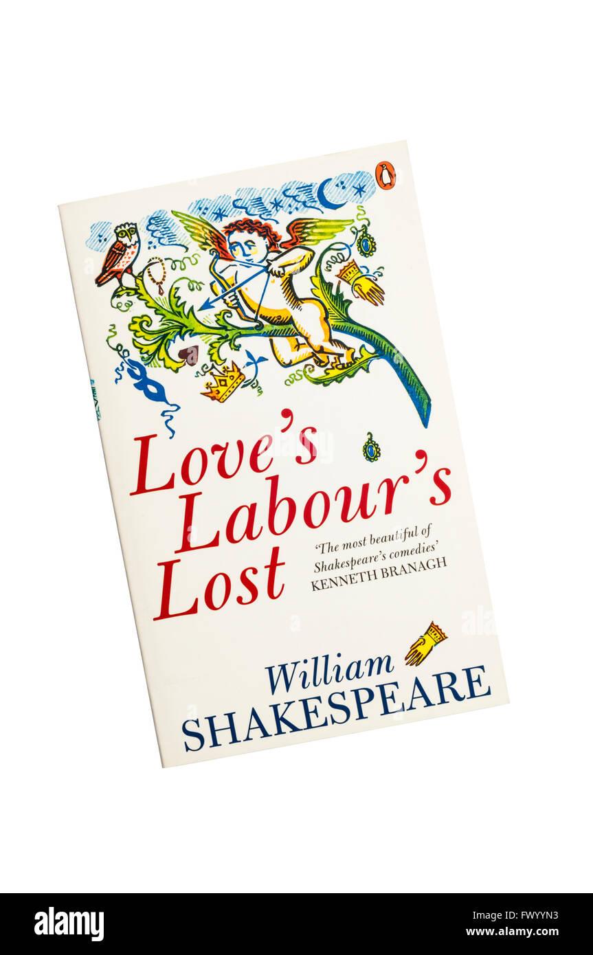 Die Penguin-Ausgabe des Liebesmüh ist von William Shakespeare verloren. Stockbild