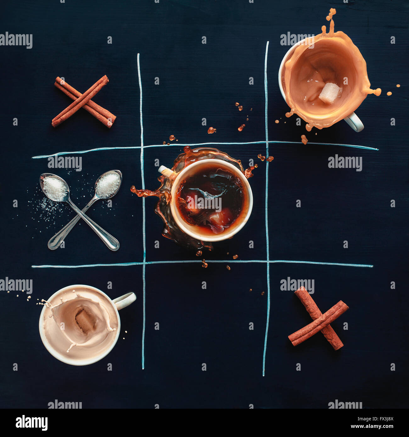 Kaffee gewinnt Stockbild