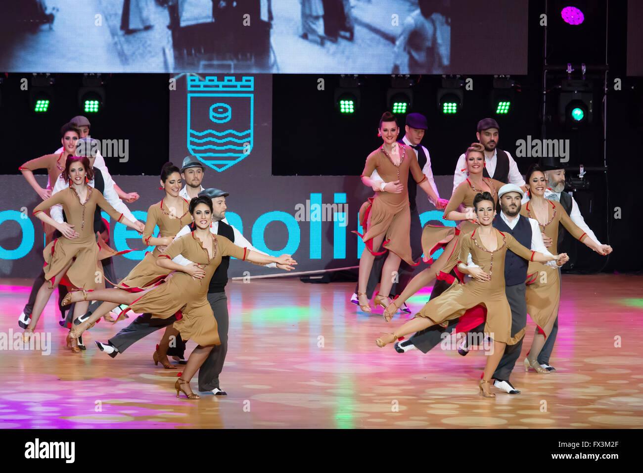Tanz-Wettbewerb, Torremolinos Malaga Provinz Costa Del Sol, Andalusien, Spanien Europa Stockbild