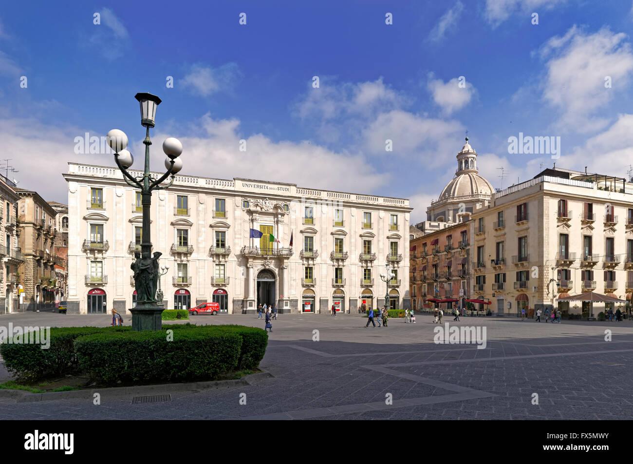 Universität von Catania, Sizilien Stockbild