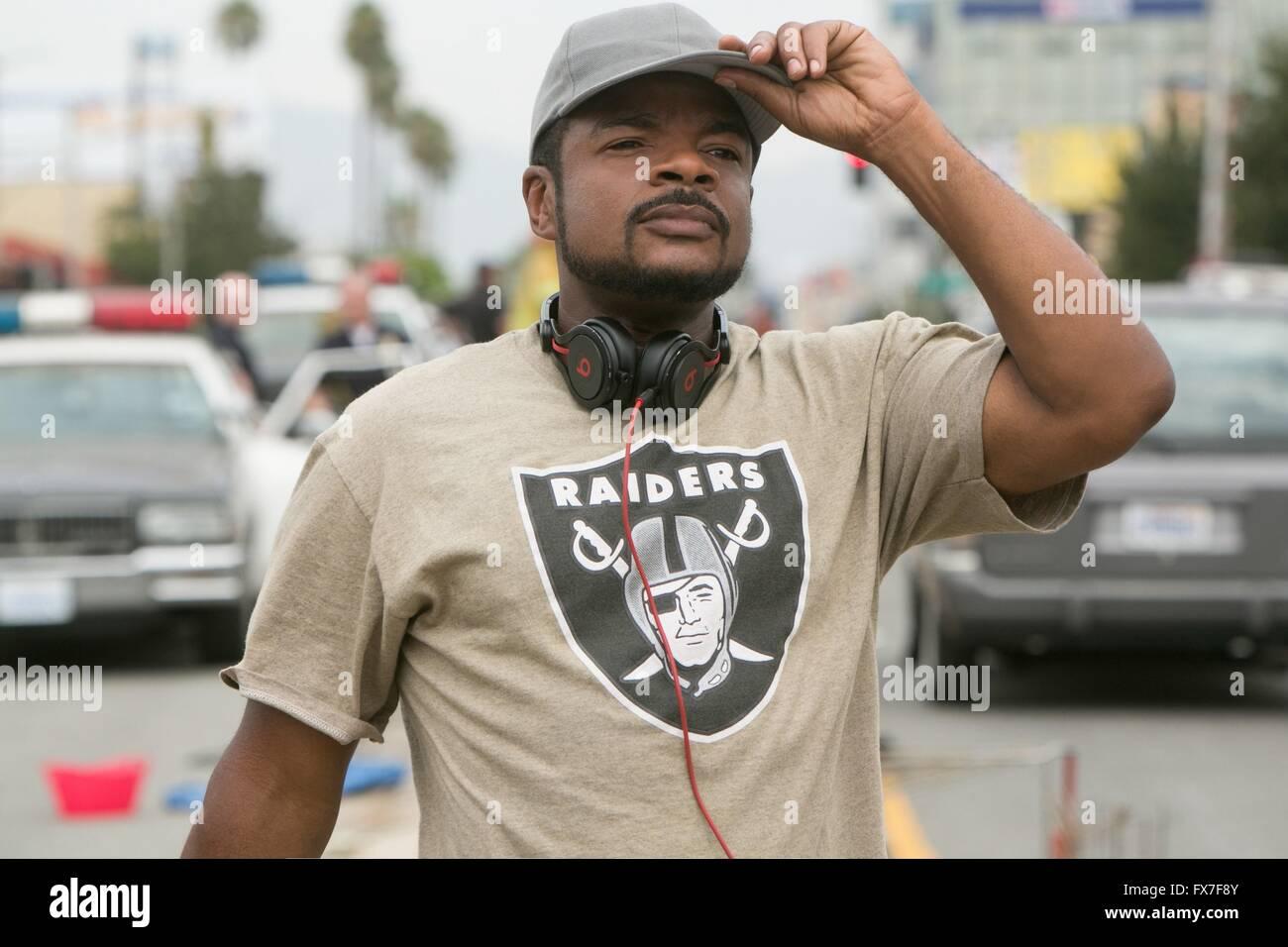 Straight Outta Compton Jahr: 2015 USA Realisateur: F. Gary Gray F. Gary Gray Shooting Bild Stockbild