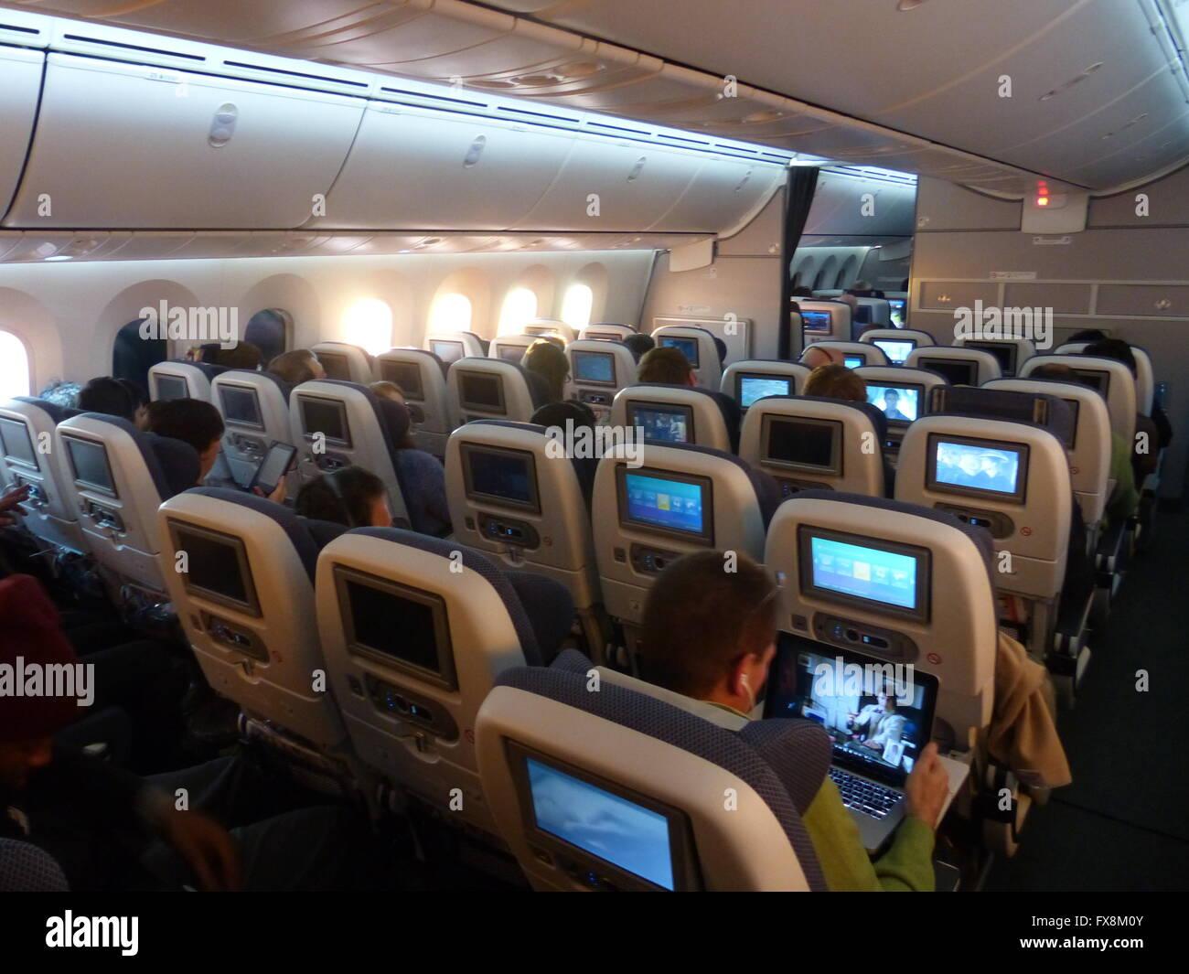 Airbus a380 interior stockfotos airbus a380 interior for Airbus a380 interior