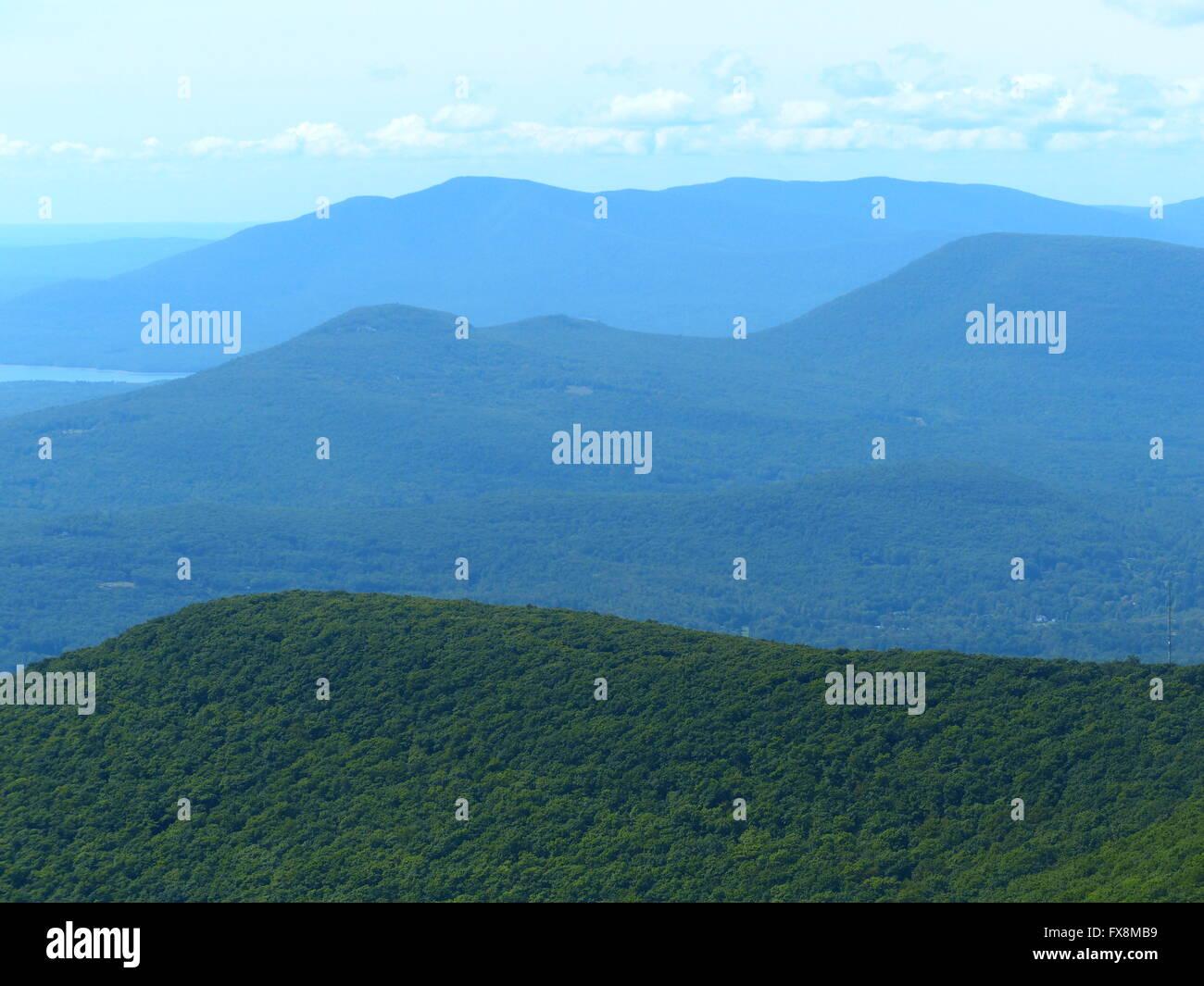 Catskill Mountains im Nordosten der Vereinigten Staaten Stockbild