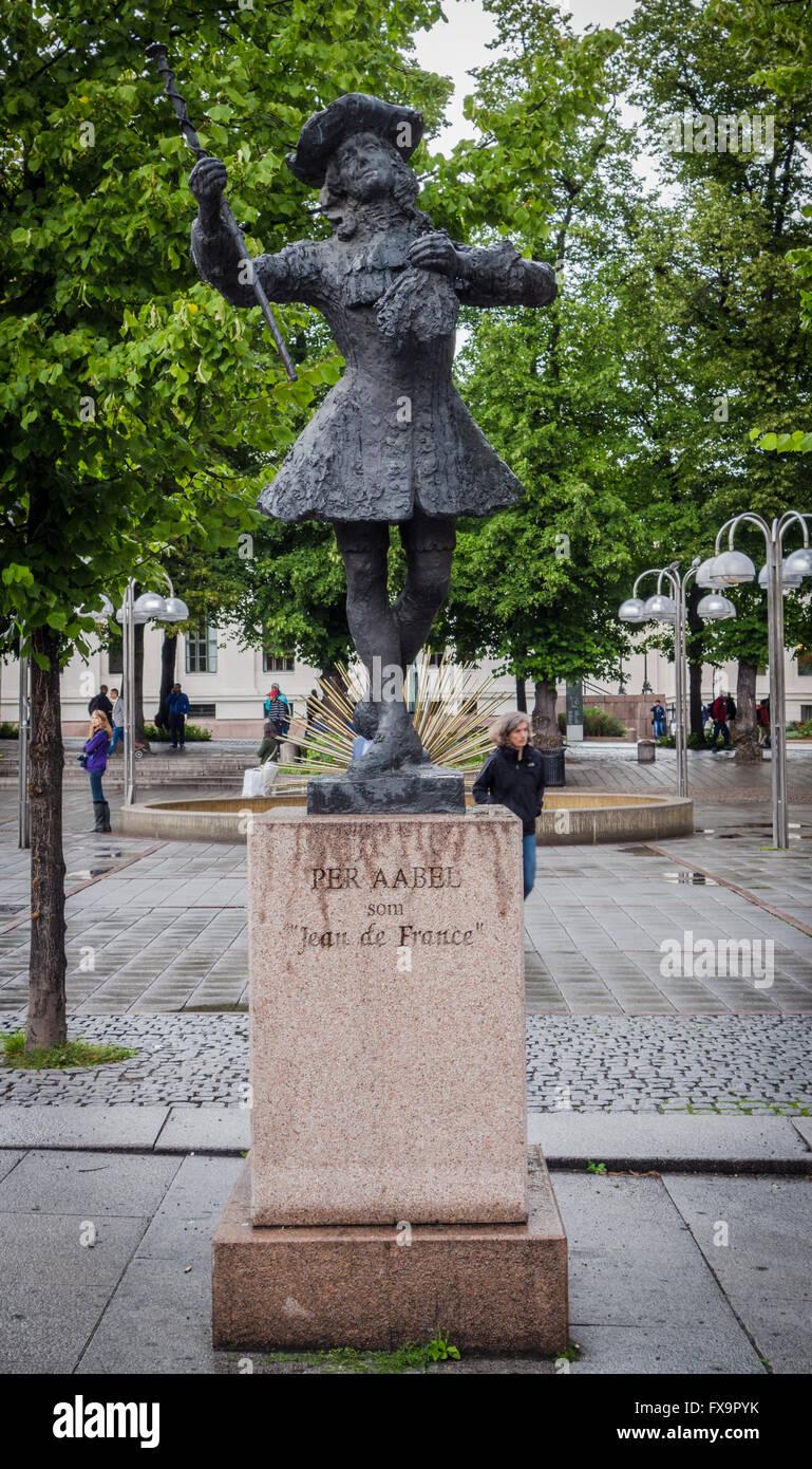 Ein Denkmal für die Schauspieler des Theaters und Kinos pro Aabel Stockbild
