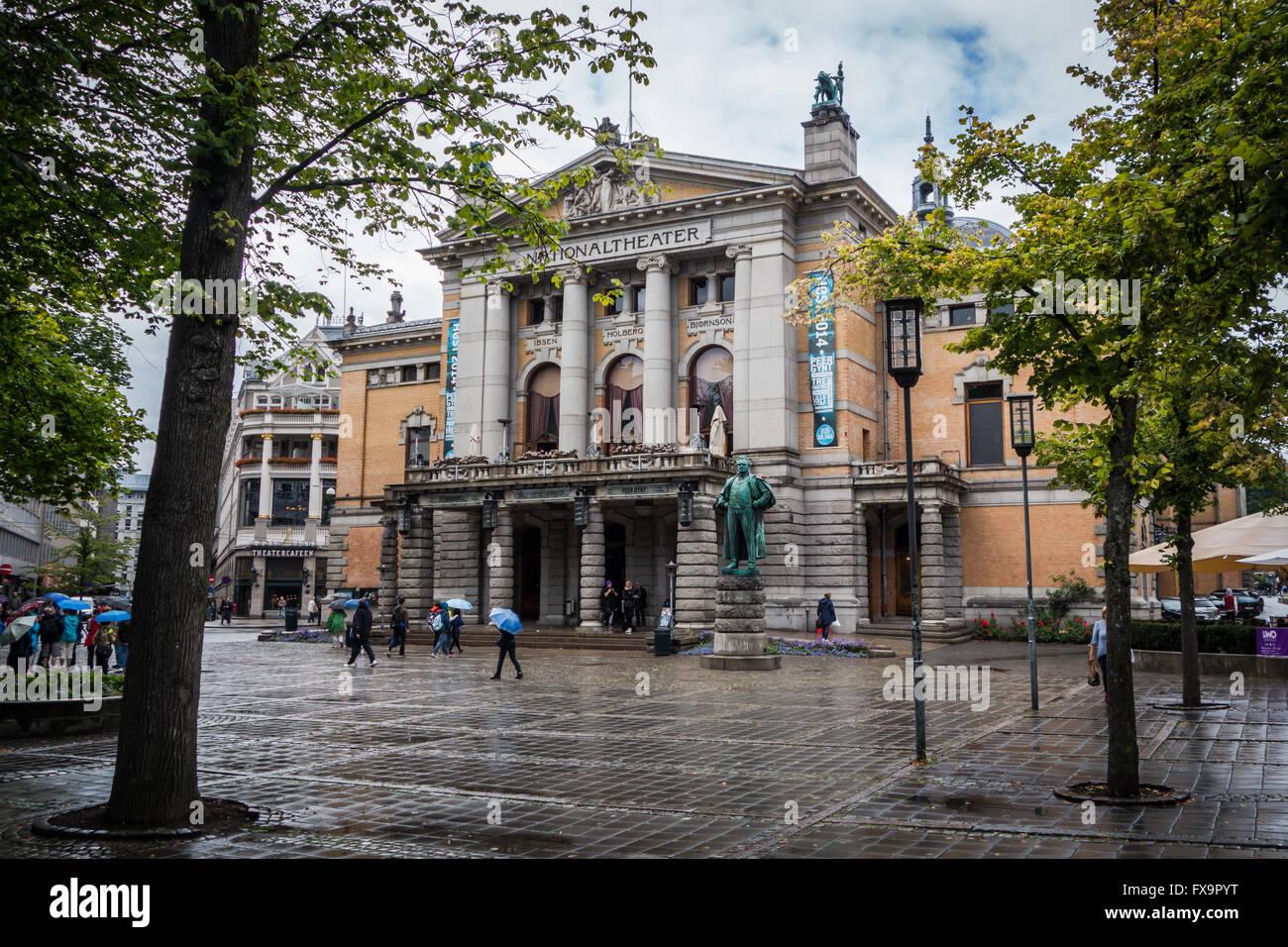 Norwegens Nationaltheater Stockbild