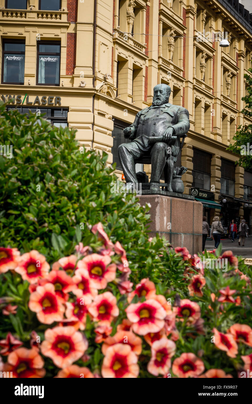 Denkmal norwegischen Maler und Schriftsteller Christian Krohg Stockbild