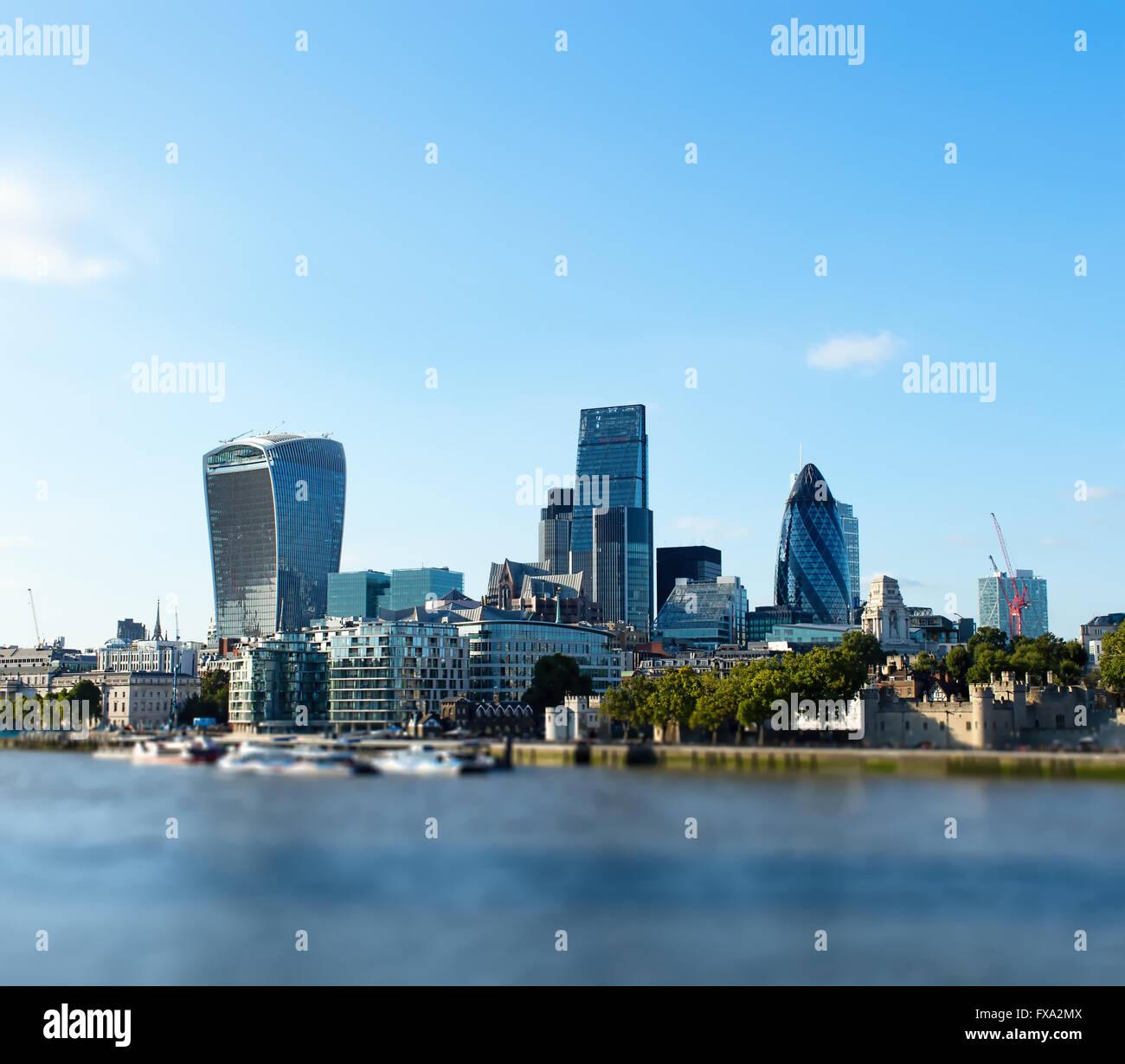 Stadt London Tag blauer Himmel Stockbild