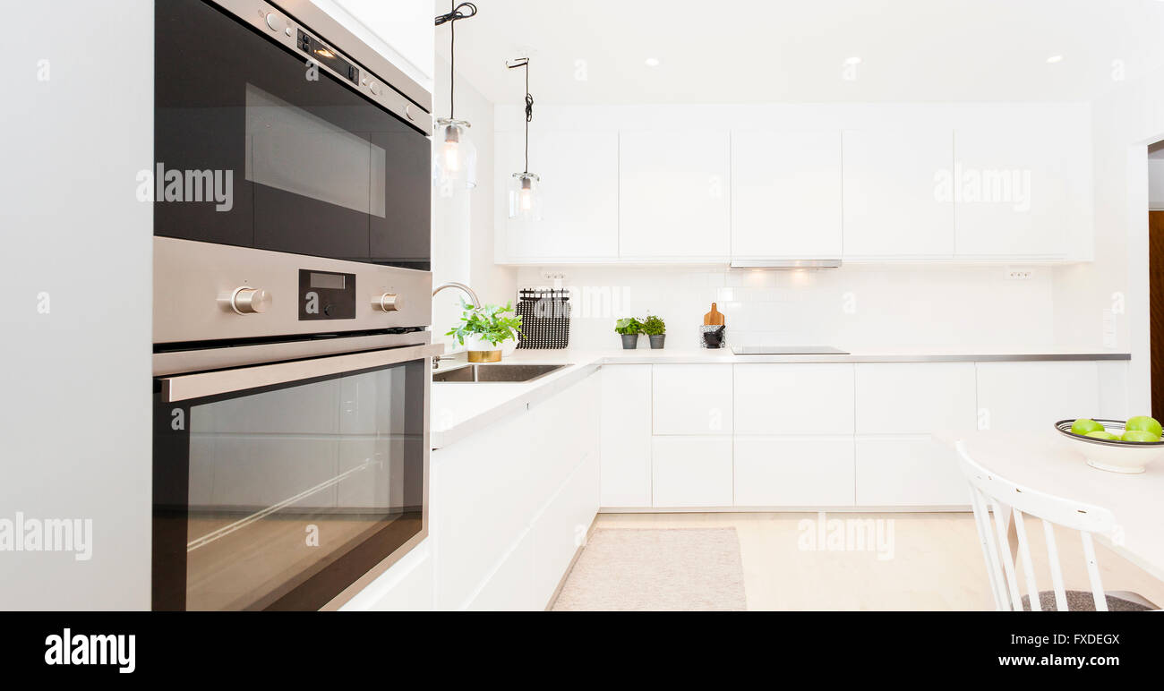 Fancy Skandinavisches Design Kuche Innenraum Stockfoto Bild