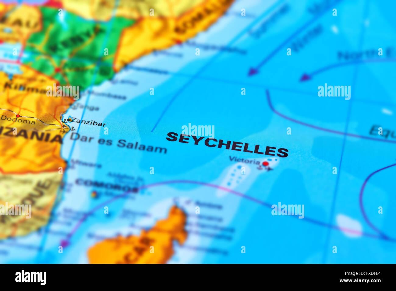 Seychellen Karte Afrika.Seychellen Inseln Auf Der Welt Karte Stockfoto Bild 102330428 Alamy