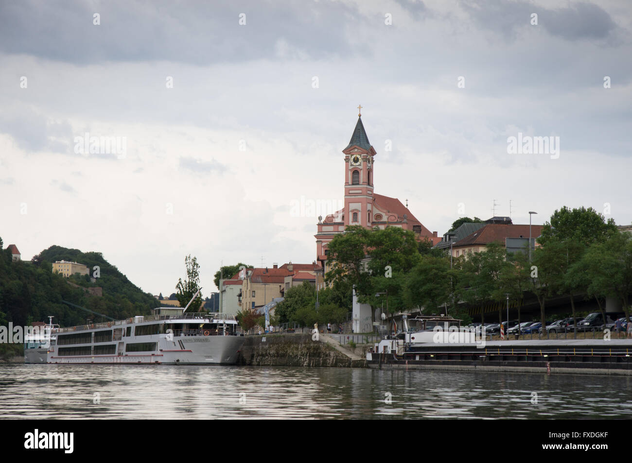 Pfarrkirche St. Paul in Passau Stockbild