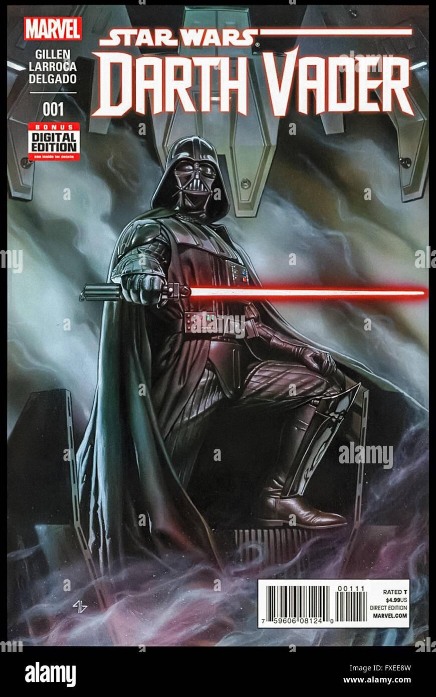 Star Wars Darth Vader Issue 1 11 Februar 2015 Veröffentlicht Von Marvel Comics Front Cover Artwork Von Adi Granov Stockfotografie Alamy
