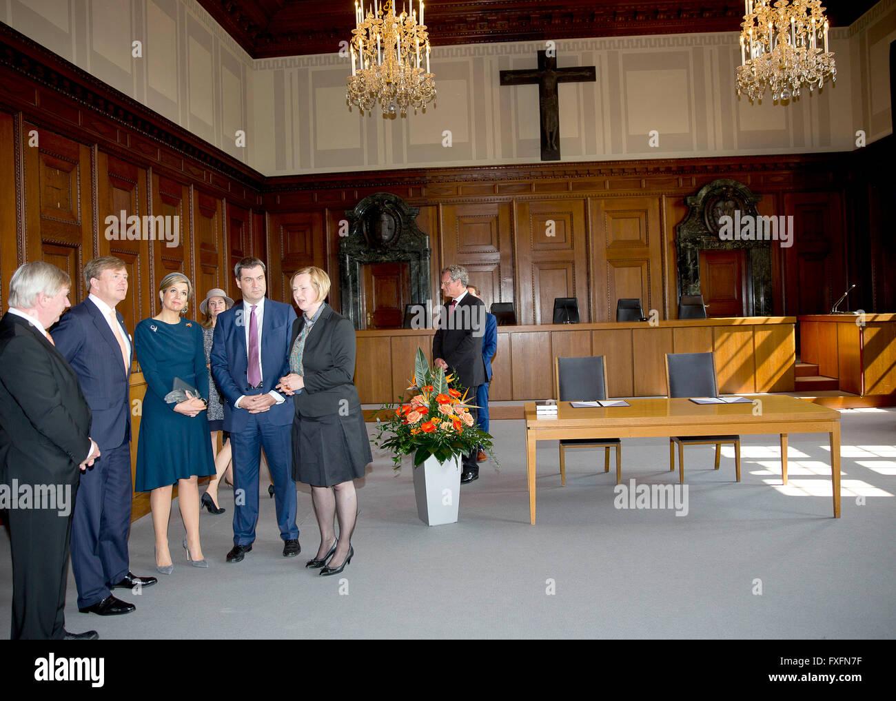 Nürnberg, 14.04.2016 HM König Willem-Alexander und HM Königin Máxima ...