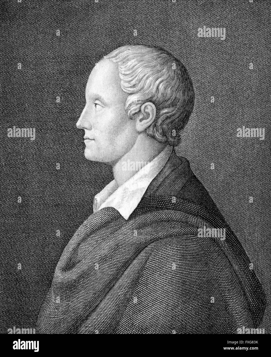 Ludwig Heinrich Christoph Holty, 1748-1776, ein beliebter Dichter der Goettinger Hainbund literarische League, Deutschland, Stockbild