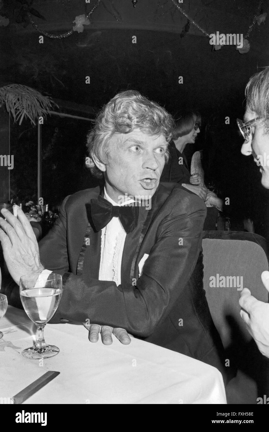 Schauspieler Hardy Krüger Beim SPIO Filmball in München 1976, 1970er Jahre Deutschland. Schauspieler Hardy Stockbild