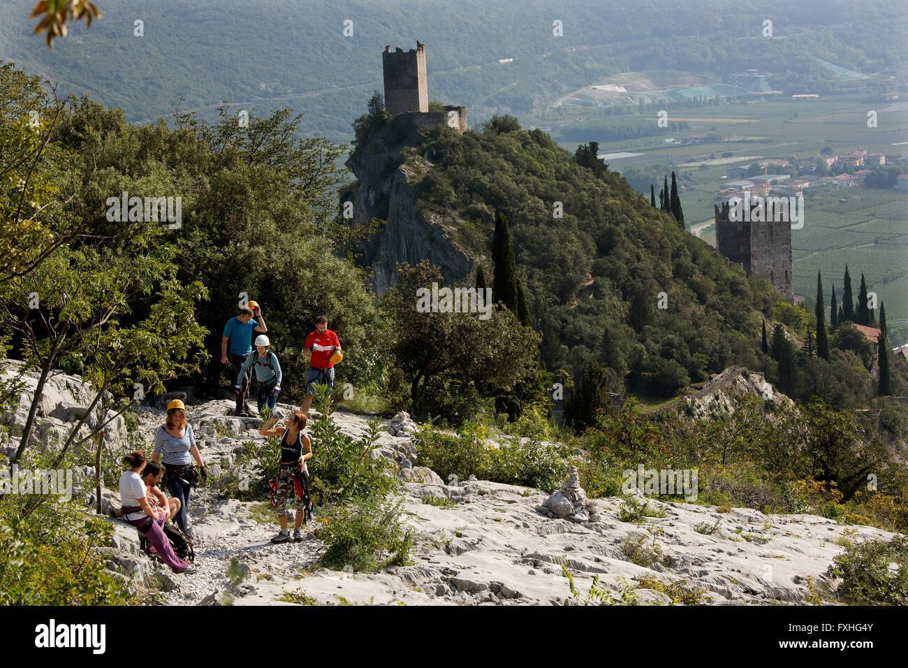 Klettersteig Arco : Klettersteig colodri klettern arco gardasee