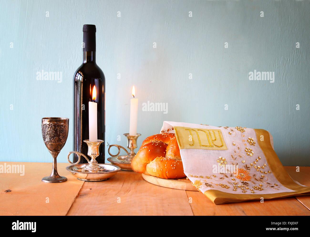 Sabbat-Bild. jüdische Religion-Konzept Stockbild