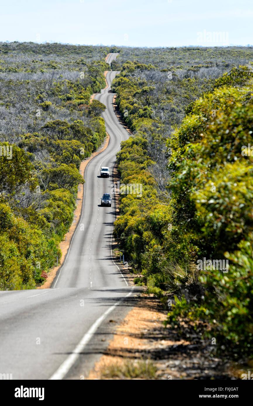 Weg zum Kap du geschafft, Kangaroo Island, South Australia, SA, Australien Stockbild