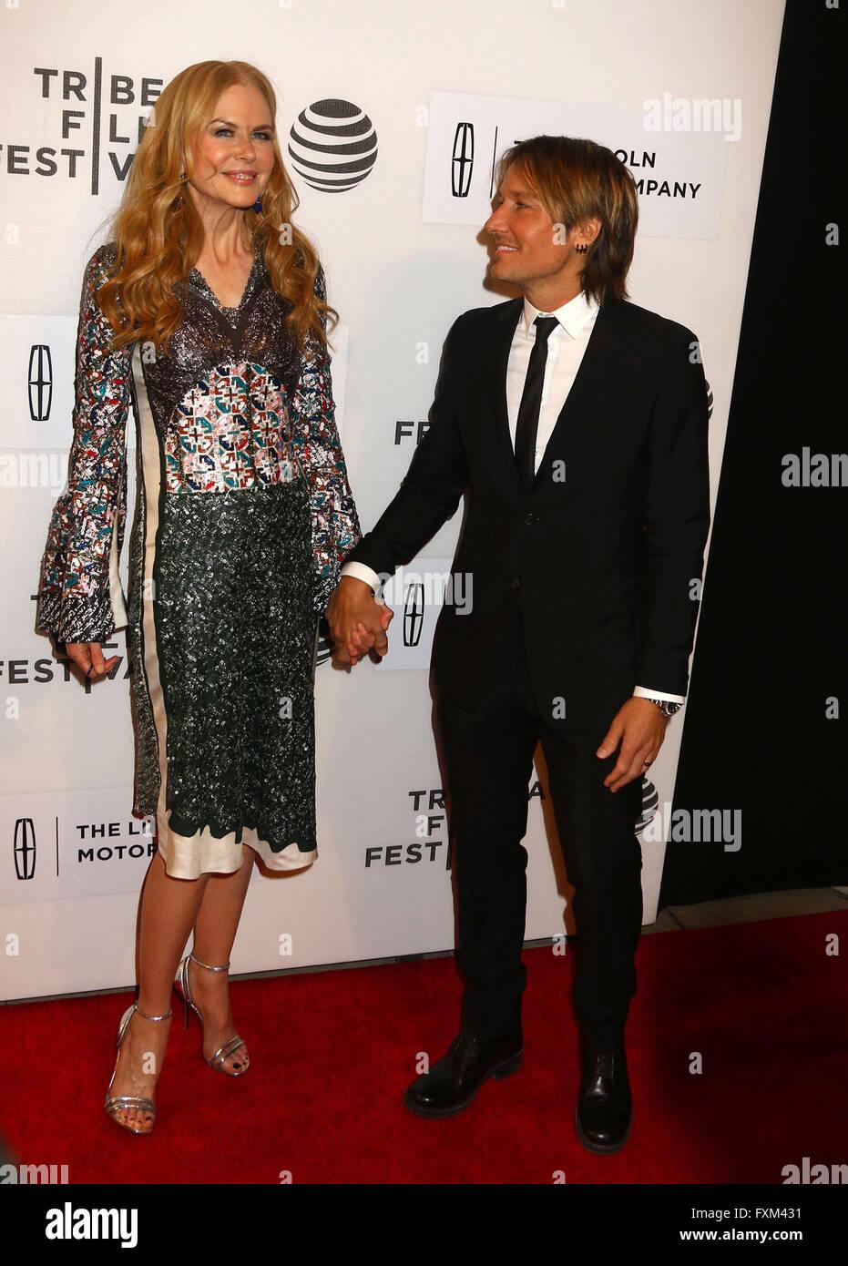 New York Usa 16 April 2016 Schauspielerin Nicole Kidman Und Ihr