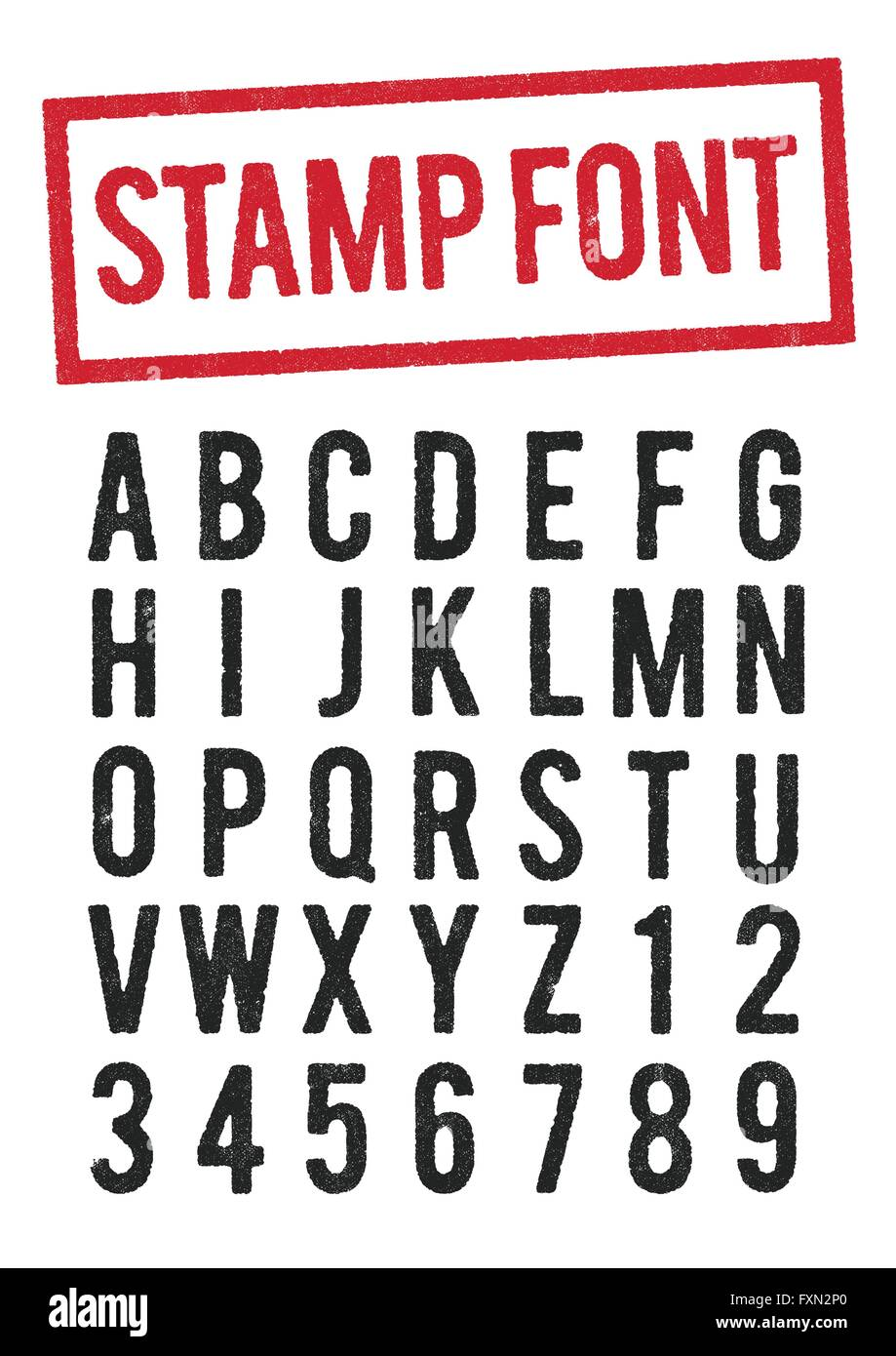 Stamp Font Stockfotos Bilder