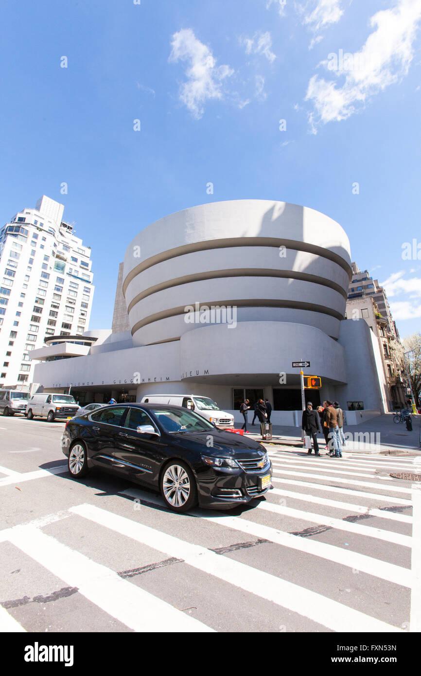 Solomon. R. Guggenheim Museum, 5th Avenue, Manhattan, New York City, Vereinigte Staaten von Amerika. Stockbild