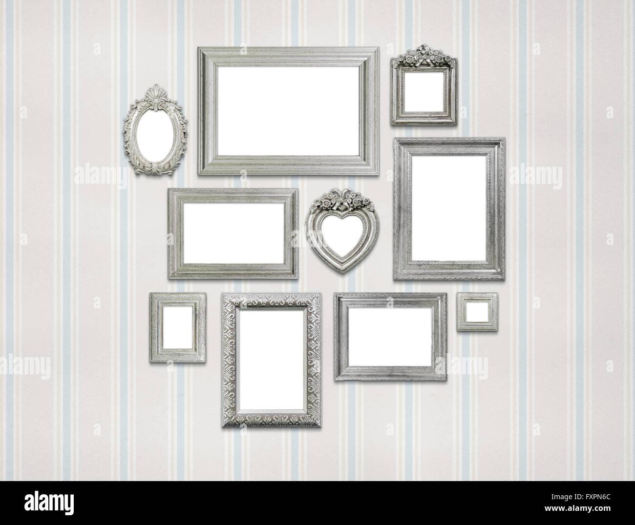 Leere Bilderrahmen auf grüne Wand Stockfoto, Bild: 102532484 - Alamy