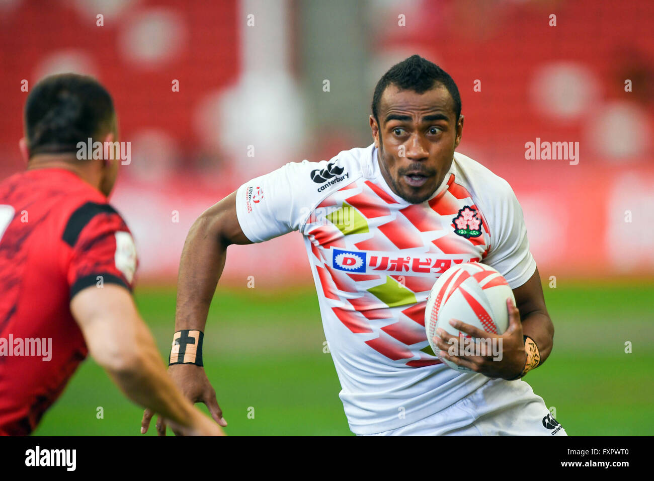 Kameli Soejima (JPN), APRL 16, 2016 - Rugby: HSBC Sevens World Series, Singapore Sevens Spiel Japan und Wales im Stockbild