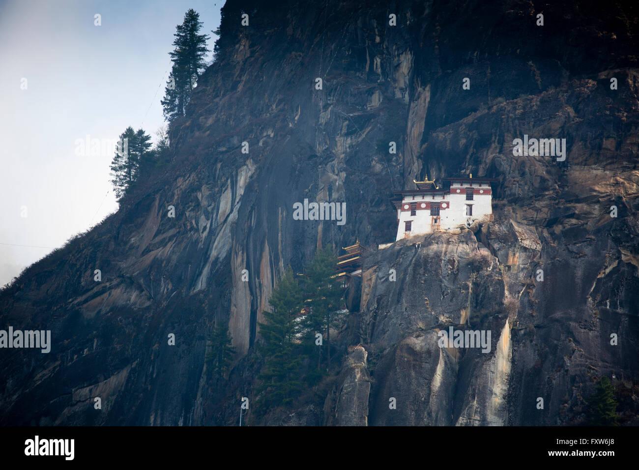 Paro Taktsang ist der populäre Name Taktsang Palphug Kloster, ein prominenter Himalayan buddhistische Heilige Stätte und Tempel-Komplex Stockfoto