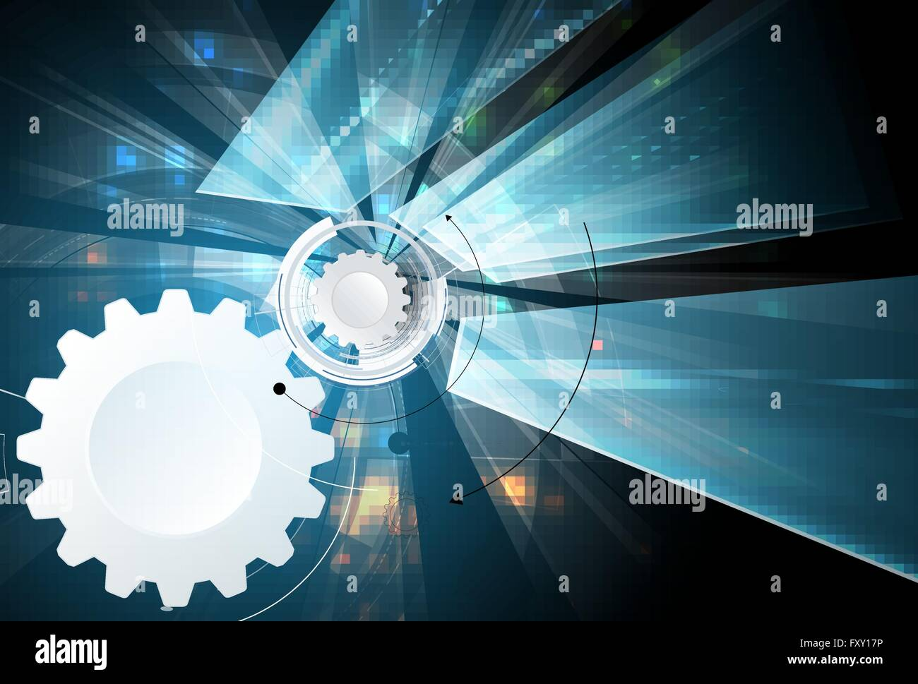 Wissenschaftliche Zukunftstechnologie. Für Business-Präsentation. Flyer, Plakat Vektor Konzept Hintergrund Stockbild