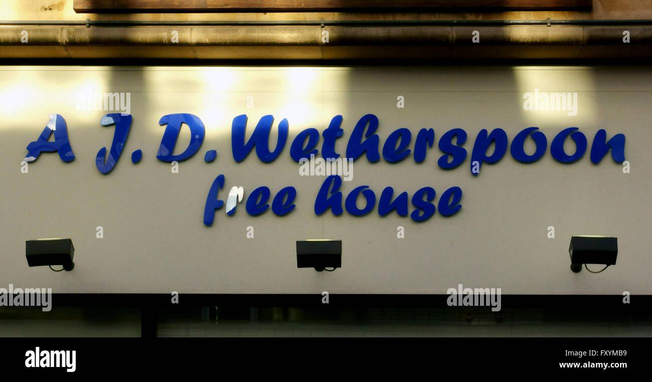 Gasthaus Signatur Pub Schild Stockbild