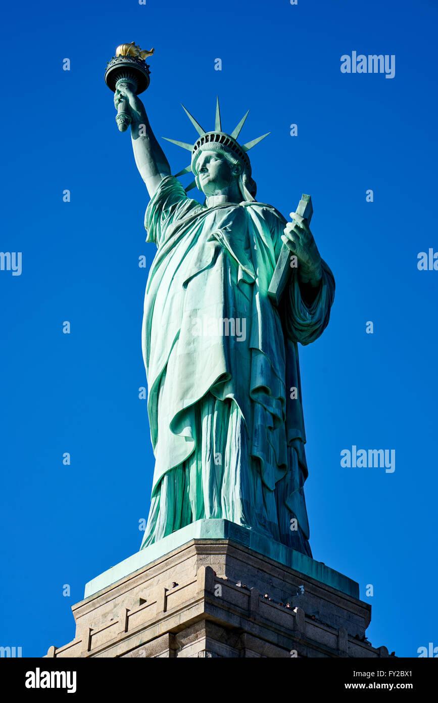 Die Freiheitsstatue auf Liberty Island. New York Stockbild