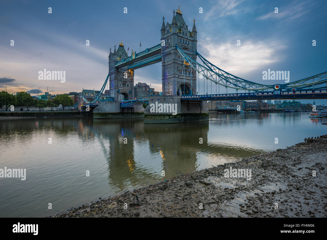 Tower Bridge, London, Vereinigtes Königreich Stockbild