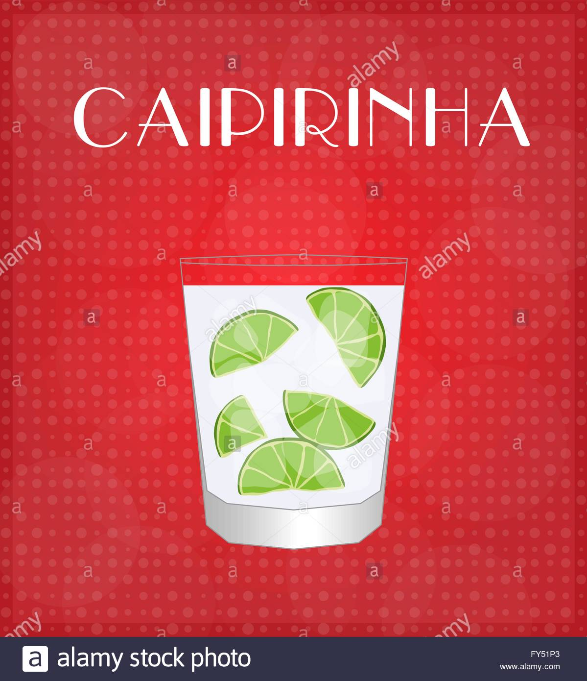 Getränke Liste Caipirinha mit rotem EPS10 Vektor Abbildung - Bild ...