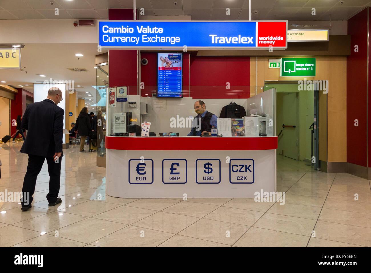 Bureau de change office von travelex am flughafen mailand linate