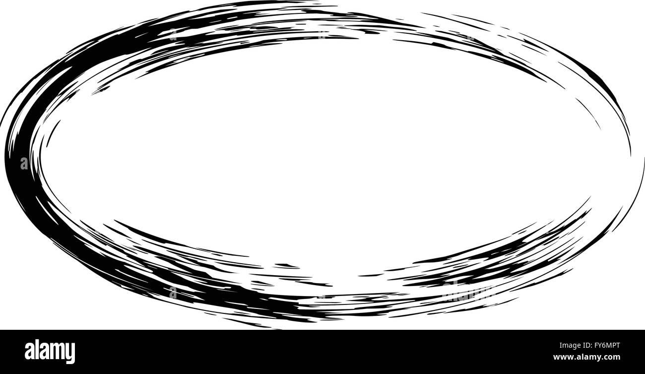Grunge Vektor Rahmen ovale Form Vektor Abbildung - Bild: 102795584 ...