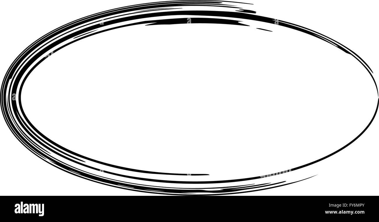 Grunge Vektor Rahmen ovale Form Vektor Abbildung - Bild: 102795587 ...