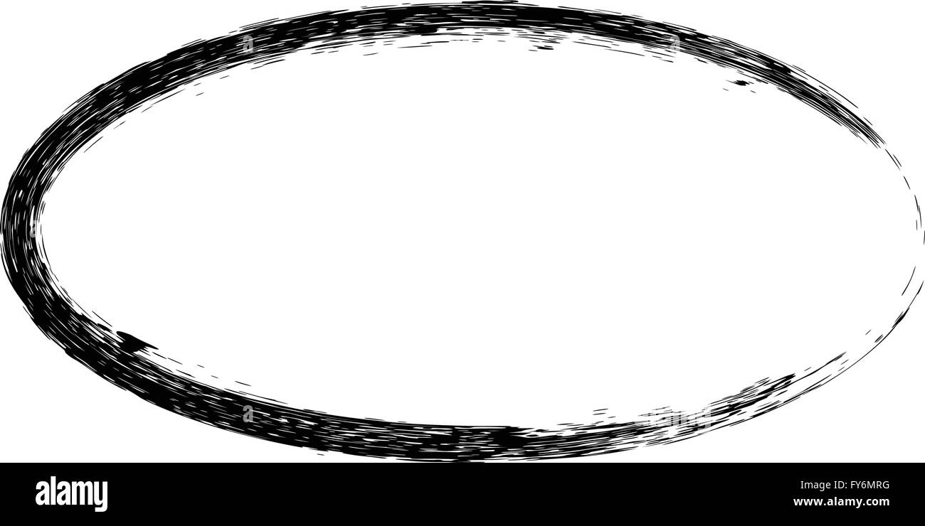Grunge Vektor Rahmen ovale Form Vektor Abbildung - Bild: 102795604 ...