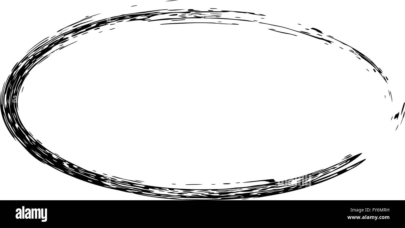 Grunge Vektor Rahmen ovale Form Vektor Abbildung - Bild: 102795605 ...