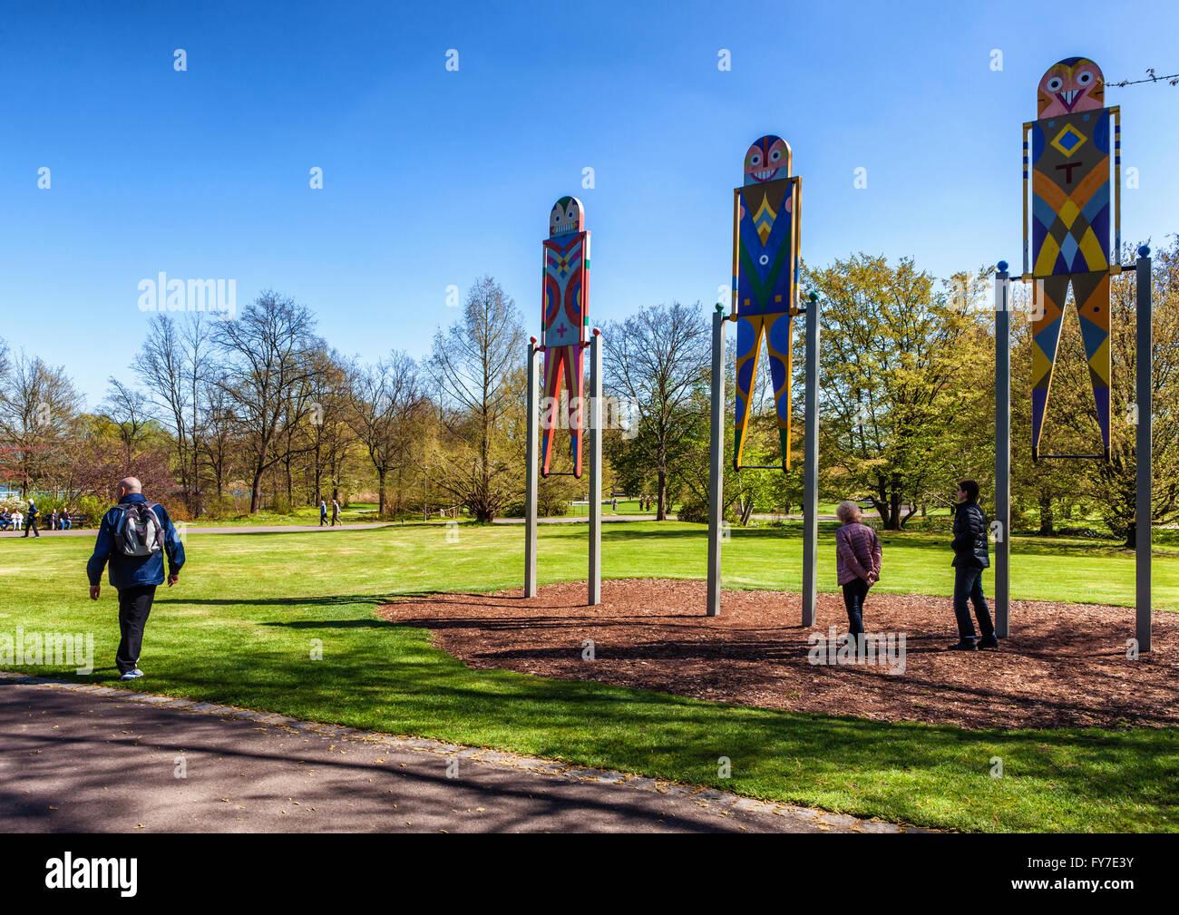 Britzer Garten Neukölln Berlin Lustige Bunte Schwingt Mit