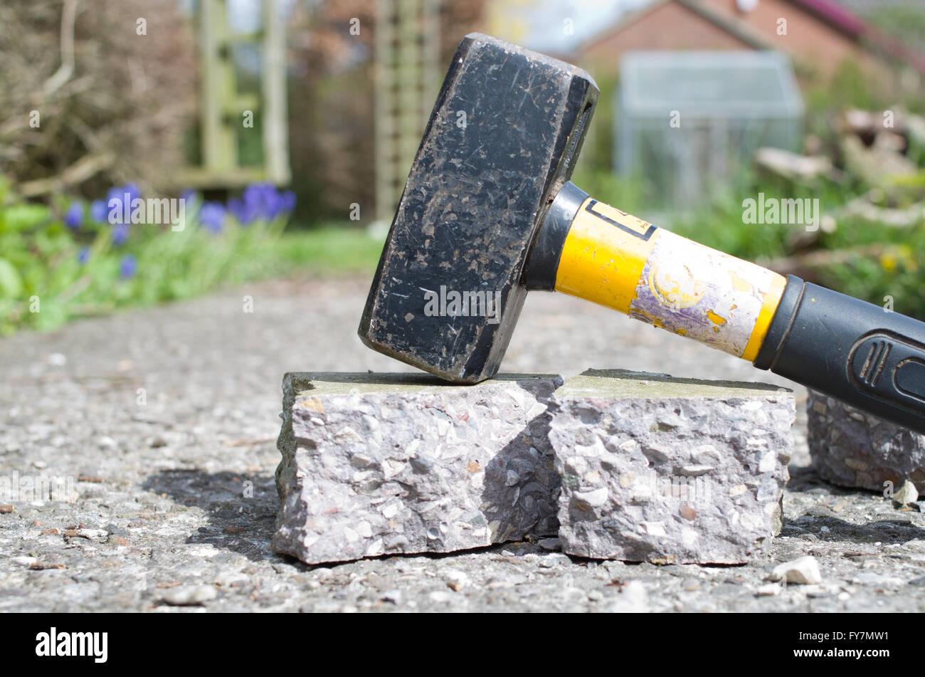 Hammer, Beton Stockbild