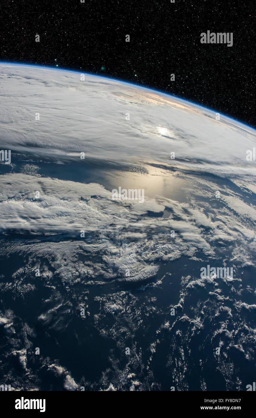 Planet Erde aus dem Weltraum. Elemente dieses Bildes, eingerichtet von der NASA Stockfoto