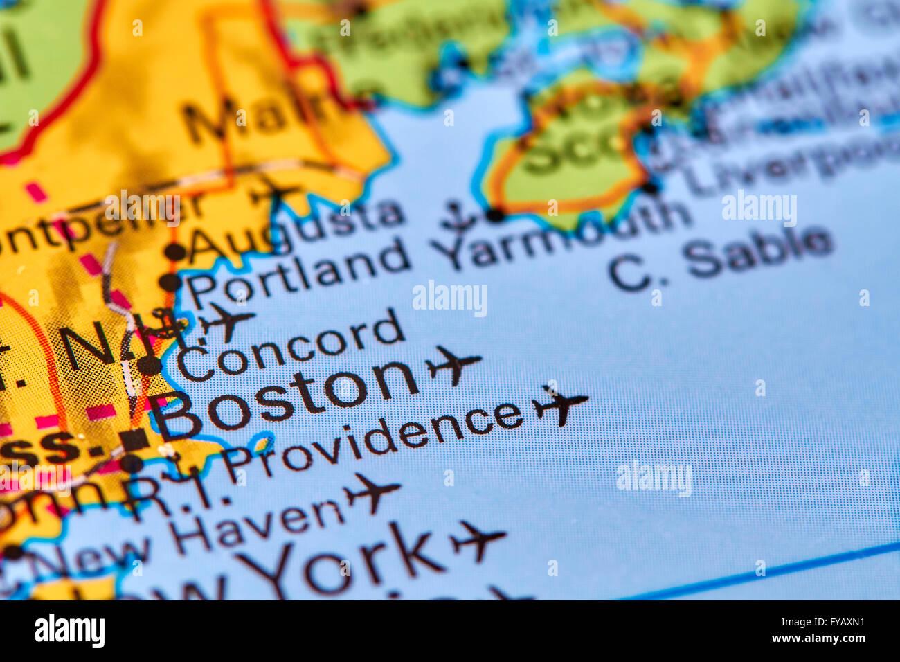 Map Usa Boston Stockfotos & Map Usa Boston Bilder - Alamy