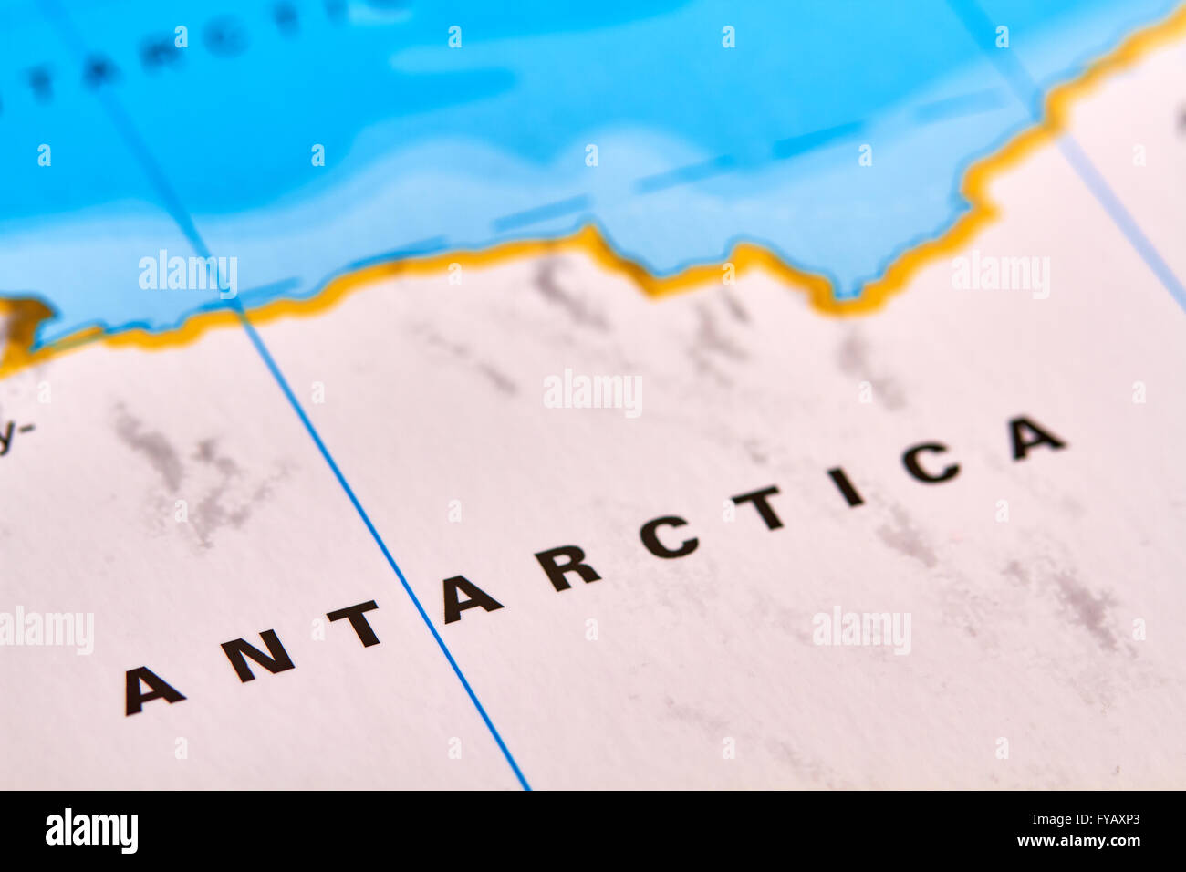 Antarktis Kontinent auf der Weltkarte Stockbild