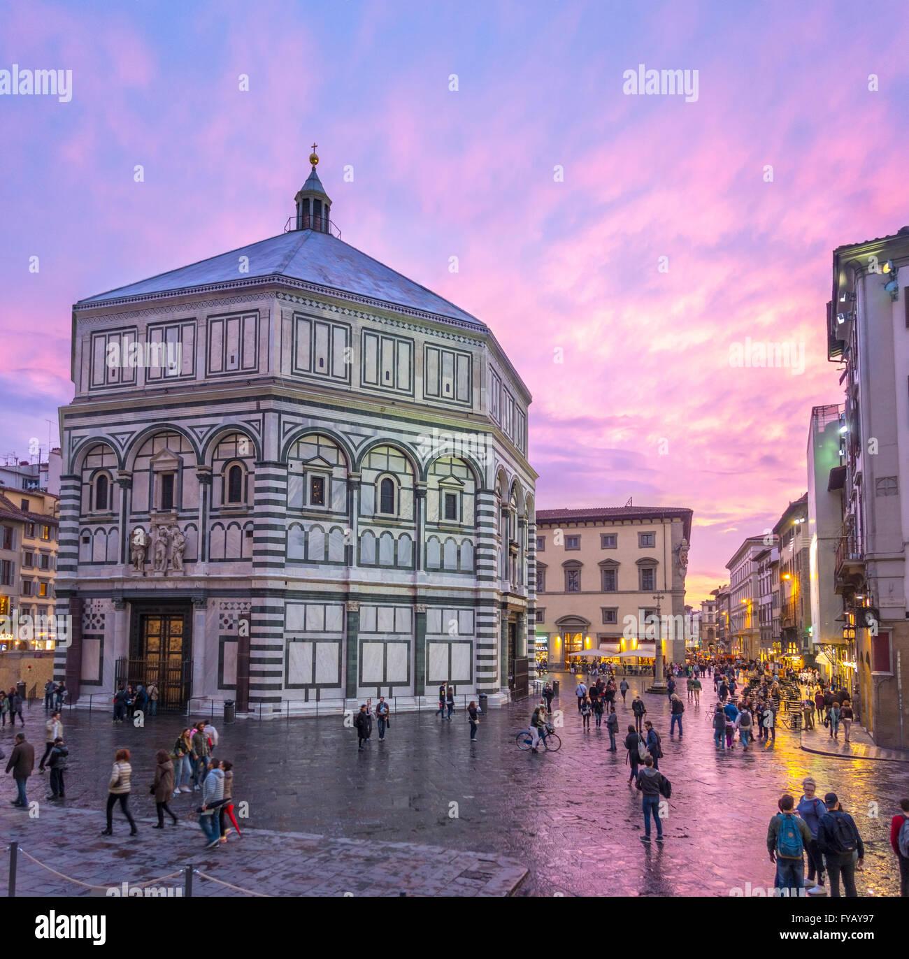 Florenz Italien Baptisterium Stockbild